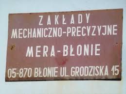 Zakłady Mera-Błonie dziś