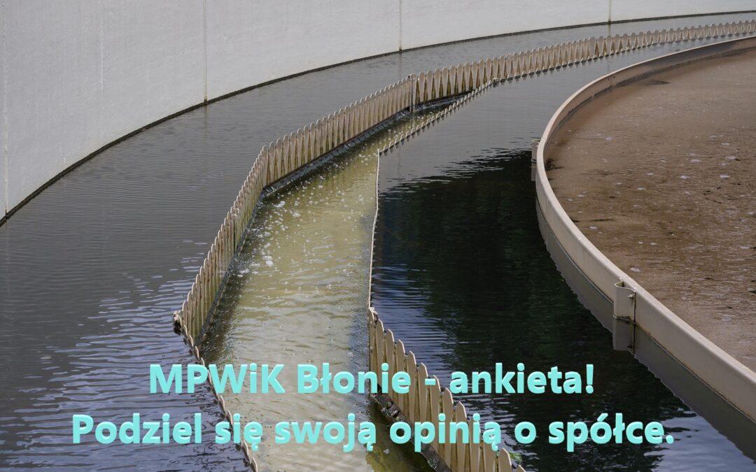 MPWiK w  Błoniu – ankieta